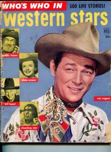 Who's Who in Western Stars #1 1952-Dell-Roy Rogers-1st issue-Dale Evans-P/FR