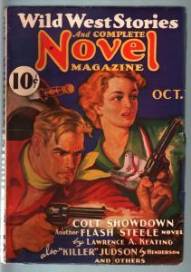 WILD WEST STORIES COMPLETE-10/1936-PULP-FLASH STEELE VF