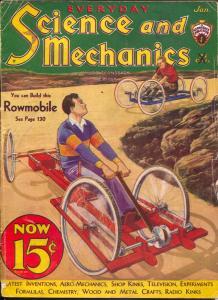 Everyday Science and Mechanics 1/1933-Frank R Paul-Rowmobile-Hugo Gernsback-FR/G