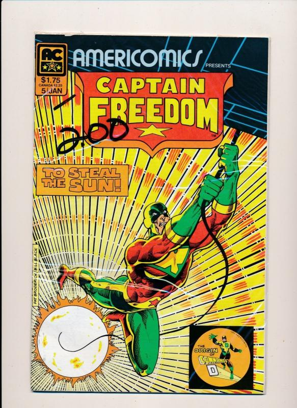 Americomics CAPTAIN FREEDOM To Steal the Sun #5  F/VF (HX750)