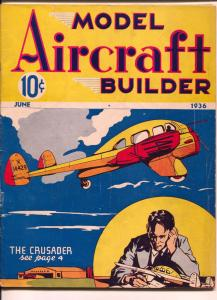 Model Aircraft Builder 4/1936-2nd issue-photos-plans to build model planes-VG