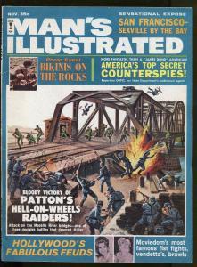 MANS MAGAZINE NOVEMBER 1964-GENERAL PATTON'S RAIDERS-HOLLYWOOD FEUDS- VF