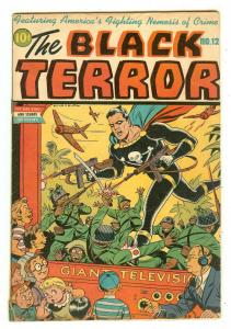Black Terror 12   Schomburg World War II cover