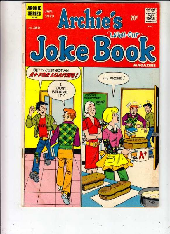 Archie's Joke Book #180 (Jan-73) VG/FN+ Mid-Grade Archie, Betty, Veronica, Re...
