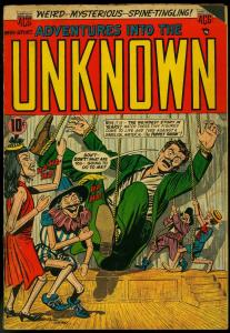 Adventures into the Unknown #59 1954- Classic puppet cover VG-