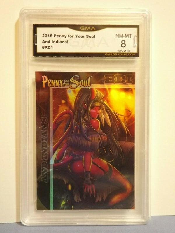 2018 PENNY FOR YOUR SOUL Card #RD1 AND INDIANS! Graded NM-MT 8 RARE L@@K!!
