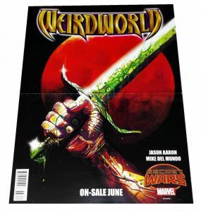 Secret Wars Weirdworld 1872 Reversible Folded Promo Poster (10 x 13) - New!