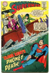 SUPERMAN #210 1968- DC Silver Age Clark Kent Phoney Death VG
