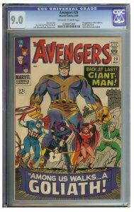 Avengers #28 (Marvel, 1966) CGC Graded 9.0
