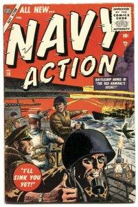 Navy Action #10 1955 Atlas-Battleship Burke-Syd Shores-commies- FN-