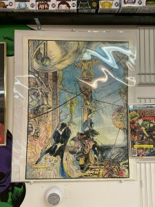 Wizards Knell Print by Mike Kaluta 1974 Rare HTF