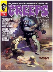 THE CREEPS #6 - FIRST PRINTING - COMIC HORROR MAGAZINE