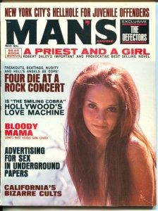 Man's Magazine 5/1970-Charles Manson-Sharon Tate-cheesecake-exploitation-VG