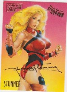 1995 Fleer Ultra Spider-Man Gold Foil Signature Series #56 Stunner/Tom Flemming