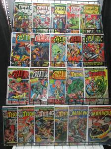 Marvel Bronze Horror SciFi Lot 21Diff Creatures on the Loose Crypt of Shadows!