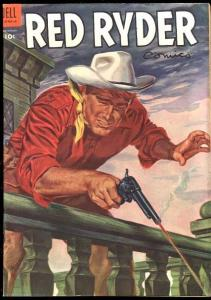RED RYDER COMICS #136 FAMOUS GUNFIGHT COVER-1953 DELL FN+