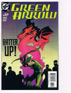 Green Arrow # 34 DC Comic Books Awesome Issue Modern Age Oliver Queen WOW!!! S24