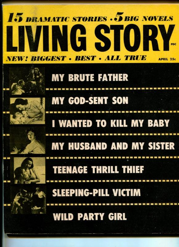 LIVING STORY #1-04/1956-IDEAL-PULP FICTION-THRILLS-SOUTHERN STATES-vf-