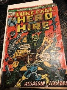 LUKE CAGE POWER MAN #6 : Marvel 2/73 Gd+; Steve Englehart story, Knight battle