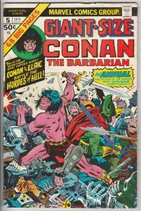 Giant-Size Conan #5 (Dec-75) FN/VF Mid-High-Grade Conan