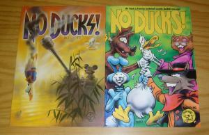 No Ducks #1-2 VF complete series REED WALLER underground comix last gasp