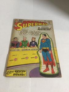 Superman 147 Gd- Good- 1.8 Cover Detached Tape On Spine DC Comics Silver Age