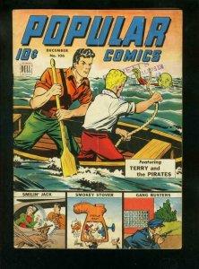 POPULAR COMICS #106 1945-SMILIN JACK-MILTON CANIFF-TERRY & PIRATES-very good VG