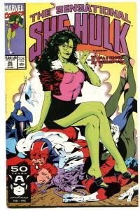 SENSATIONAL SHE-HULK #26-Spicy GGA cover-1991