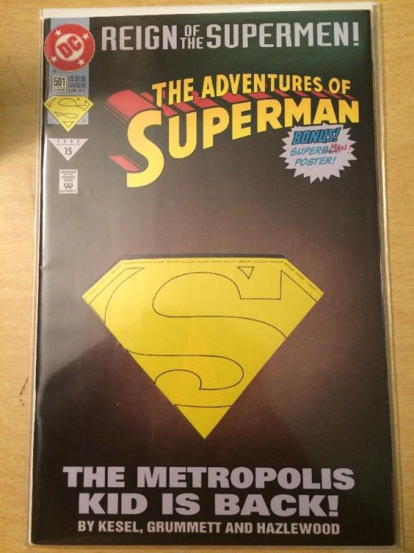 Adventures of Superman #501 Reign of the Supermen