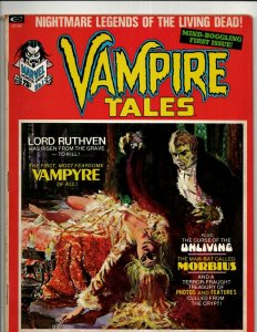 Vampire Tales # 1 VF- Curtis Marvel Comic Book Magazine Horror Fear Monster RS3