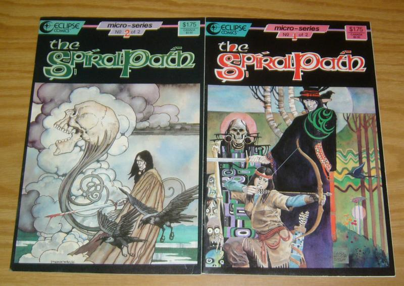 the Spiral Path #1-2 VF/NM complete series - steve parkhouse eclipse comics set