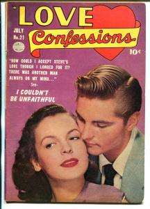 Love Confessions #21 1952-Quality-photo cover-spicy poses-headlights-FN