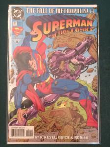Action Comics #701 The Fall of Metropolis!
