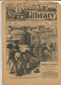 BEADLE HALF DIME LIBRARY #812-1893-1ST DECAPITATION COVER-VERY RARE-pr/fr