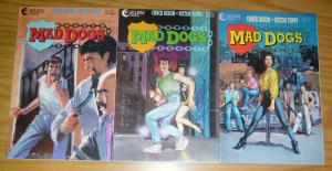 Mad Dogs #1-3 VF/NM complete series - chuck dixon - eclipse comics set lot 2