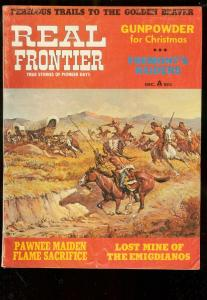REAL FRONTIER PULP-DEC 1970-FRED HARMAN INDIAN ATTACK C VG