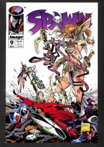 Spawn #9 VF+ 8.5 1st Angela!