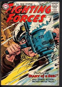 OUR FIGHTING FORCES #11 1956-DC WAR COMICS--WW II