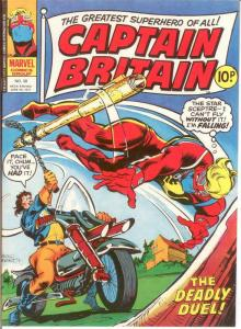 CAPTAIN BRITAIN (1976) 38 VERY FINE LAWRENCE/WILSON/MAR COMICS BOOK
