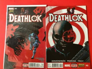 DEATHLOK LOT OF 2 #'s 002,003.MARVEL-DIRECT EDITIONS / HIGH QUALITY
