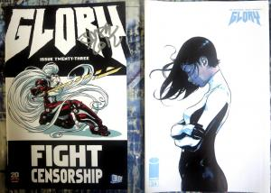 GLORY CBLDF Set of 2 Variant Covers Issues #23 SIGNED & #34 Rob Liefeld