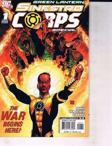 Lot Of 2 DC Comics Book Sinestro Coprs #1 and Green Lantern Secret Files#1 ON1