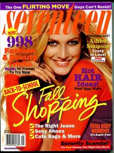 Seventeen 9/2007-Ashlee Simpson-sorority scandal-flirting moves-FN/VF