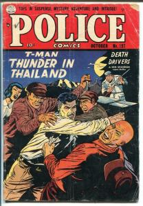 POLICE  #127-1953-QUALITY-REDD CRANDALL-T-MAN-COMMIES-good+
