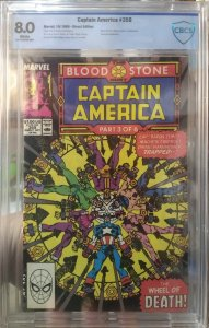 Captain America #359 CBCS 8.0 *KEY* issue 1st Appearance of Crossbones