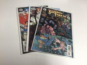 Superman Tarzan Sons of the Jungle 1-3 Nm Near Mint Dark Horse Comics