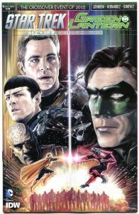 STAR TREK GREEN LANTERN #4 B, NM, Spock, Kirk, War, 2015, IDW, more in store