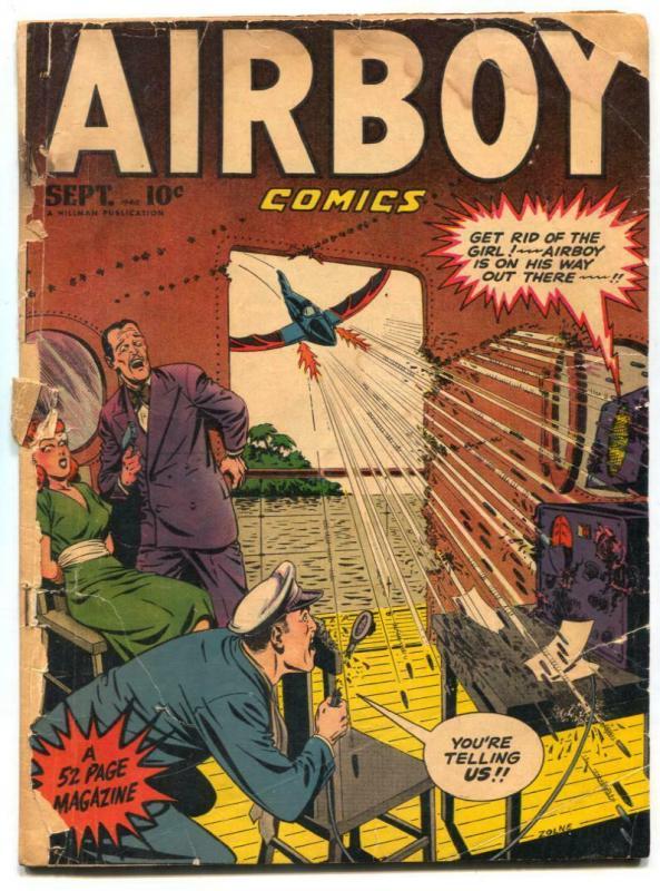 Airboy Comics Vol 5 #8 1948- Golden Age FAIR