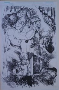 MICHAEL ZULLI original art, WITCHBLADE #47, pg #15, 11x17, Splash, 2001
