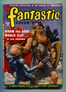 FANTASTIC ADVENTURES JUNE 1951-ZIFF-DAVIS-VG+
